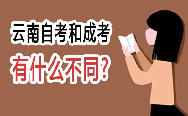 云南自考和成考有什么区别?