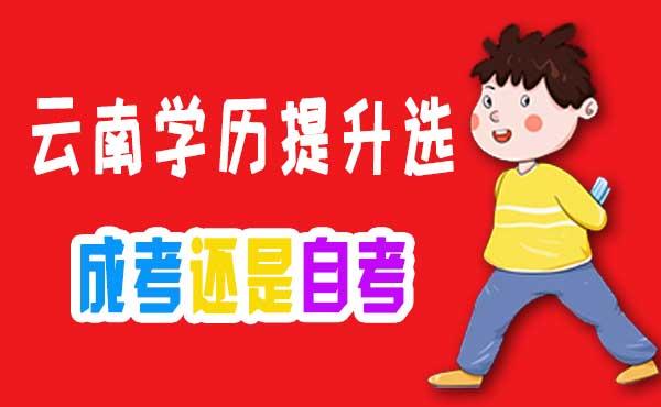 2020年云南学历提升是选择自考还是成人高考?