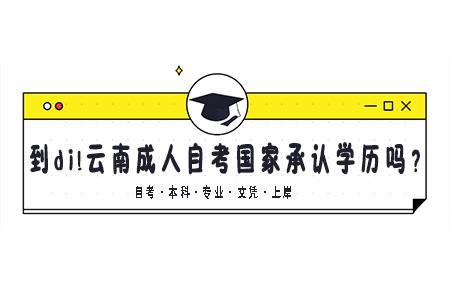 云南成人自考国家承认学历吗?