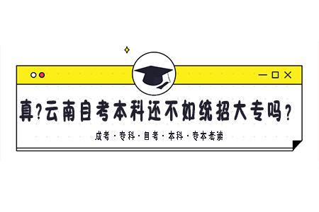 云南自考本科还不如统招大专吗?