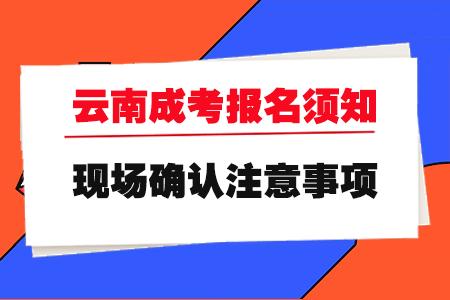 2020云南成人高考报名须知及现场确认注意事项