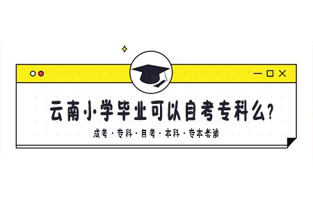 云南小学毕业可以自考专科么?如何自考大专?