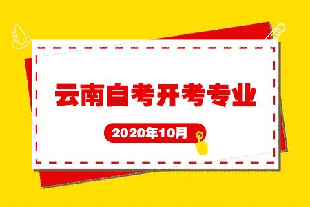 2020年10月云南省自考开考专业有哪些?