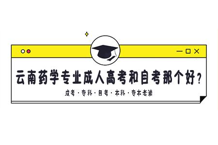 云南药学专业成人高考和自考那个好?