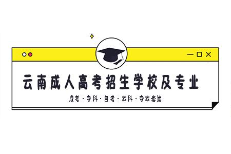 云南成人高考的学校有哪些?有什么专业?
