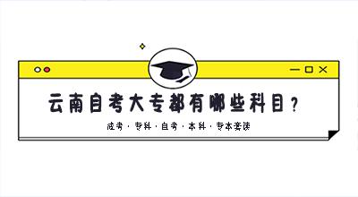 云南自考大专都有哪些科目?