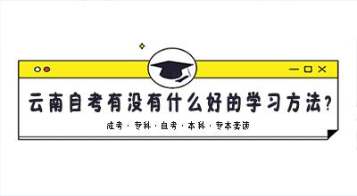 云南自考有没有什么好的学习方法?