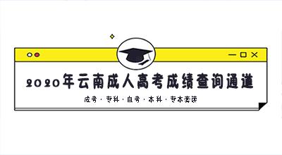 2020年云南成人高考成绩查询通道