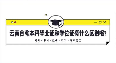 云南自考本科毕业证和学位证有什么区别呢?