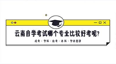 云南自学考试哪个专业比较好考呢?
