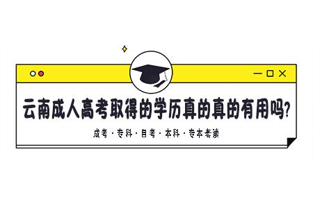 云南成人高考取得的学历真的真的有用吗?